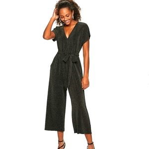 NWT Kohl's sparkly brown wide leg jumpsuit/romper